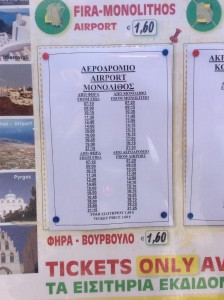 Horário do Transporte público em Santorini