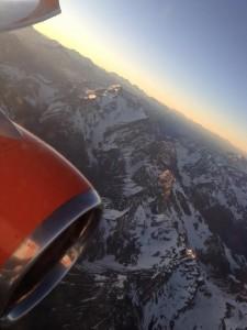 Cordilheira avião em dezembro 2