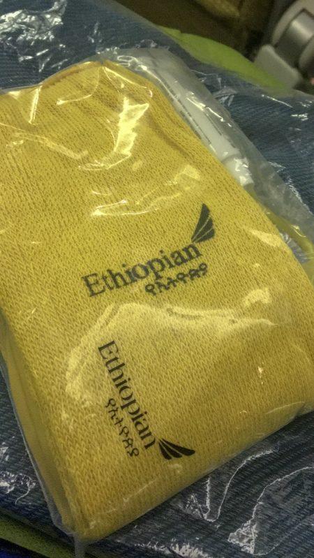 Kit viagem da Ethiopian Airlines