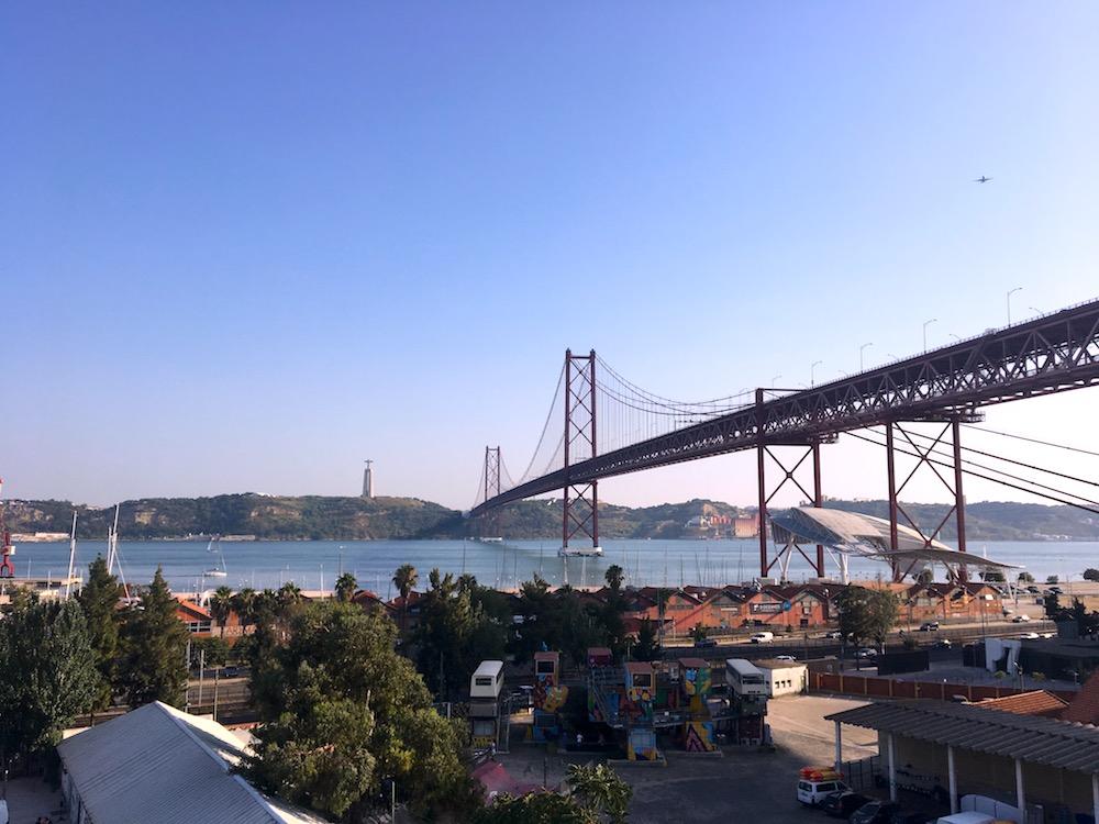 Vista da ponte 25 de abril