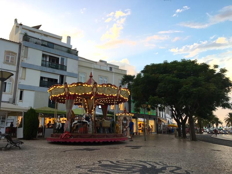 Centro de Lagos no Algarve