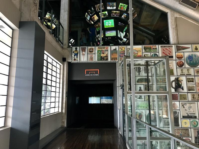 Entrada do museu do futebol