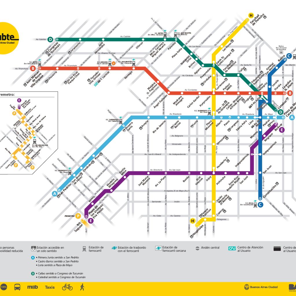Mapa do transporte público - Clique para ampliar