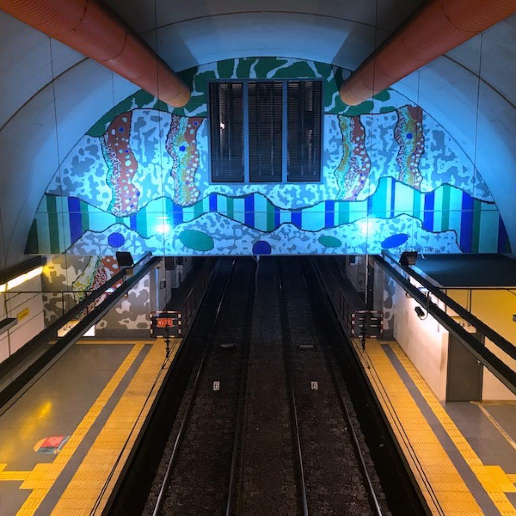 Estação de metrô em Buenos Aires