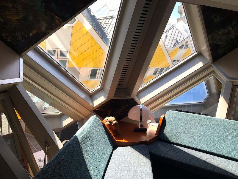 Sala de estar da Casa cubo
