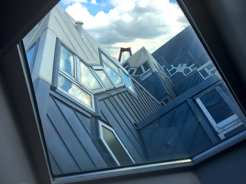 Visão da janela da Casa Cubo