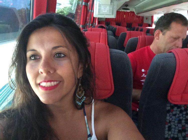 Ônibus público em Santorini