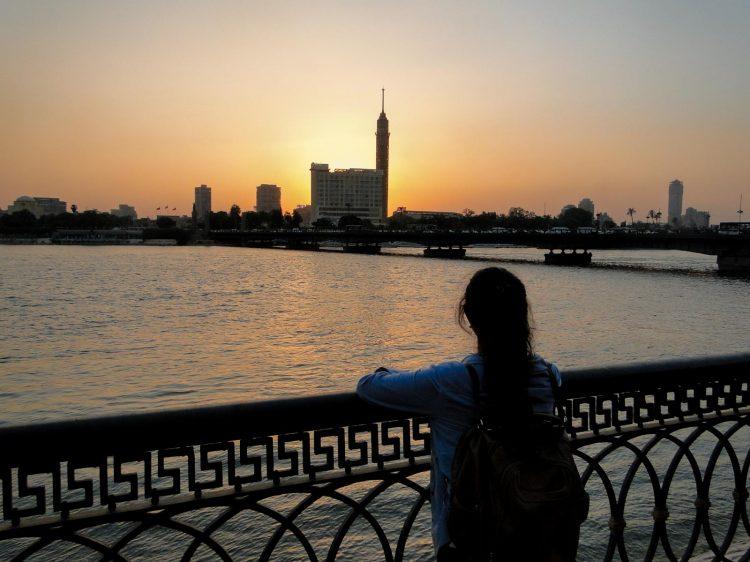 Rio Nilo e a Cairo Tower