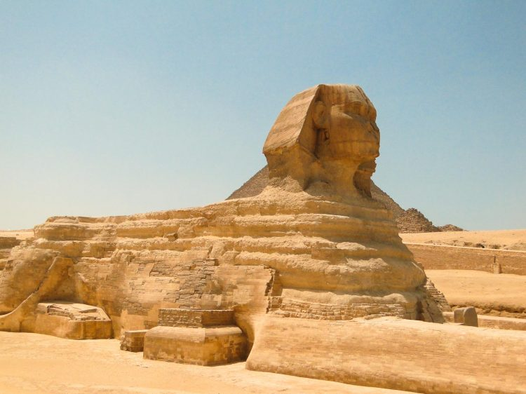 Esfinge no Cairo